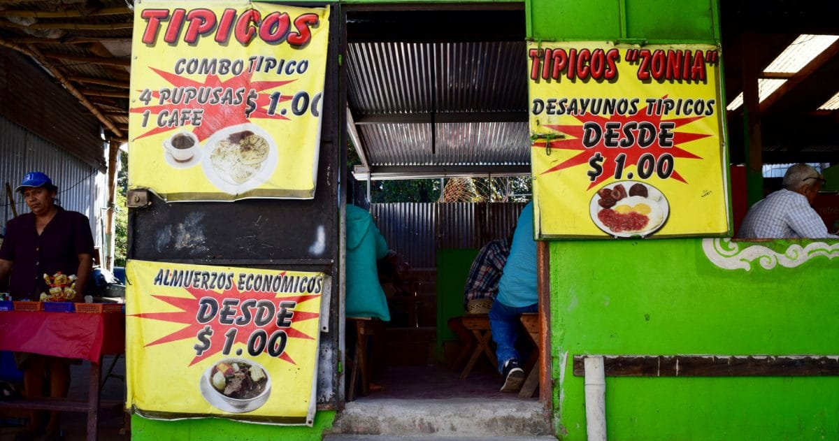 The comedors or small eateries come in handy if you want to eat on a budget in Central America. (Photo credit: DIY Travel HQ)
