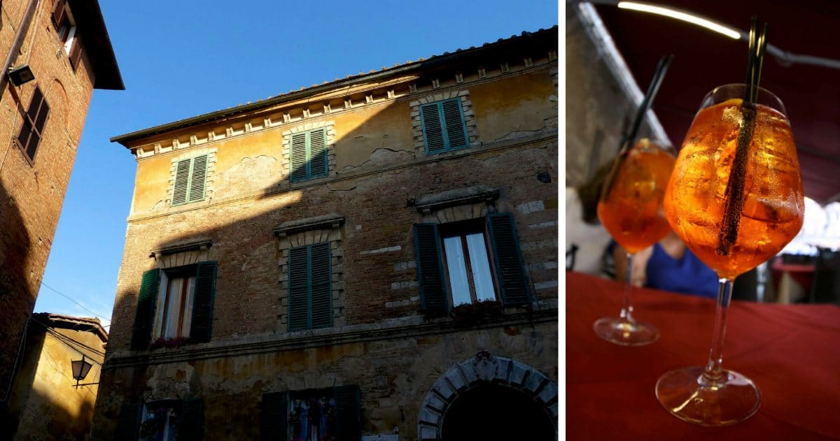 Even the Aperol Spritz takes on the lovely color of the Siena earth. (Photos credit: Christine Cognieux)