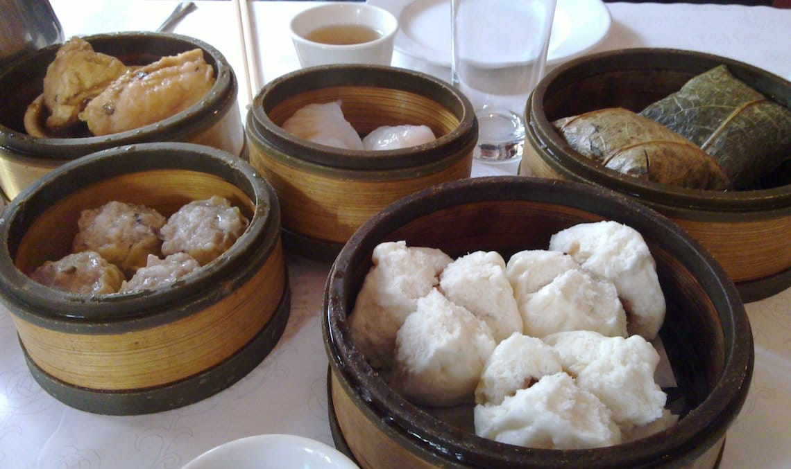 Dim sum breakfast time.