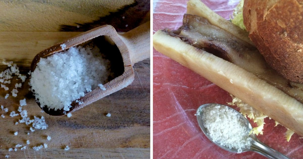 The fine aroma of the Fleur de sel brings out the creaminess of roasted bone marrow. (Photo credit: Christine Cognieux)