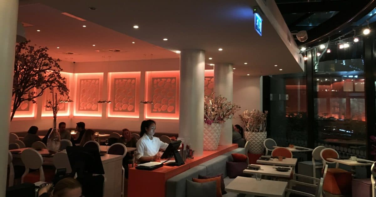 The interior of Umami by Han reflects the modern-asian influences of its cuisine. (Photo Credit: Christine Cognieux)