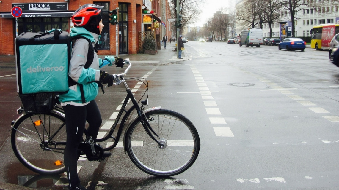 Delivery in Berlin. (Photo Credit: Berliners on Bycicles by Flickr User 90664717@N00, original image has been adapted)