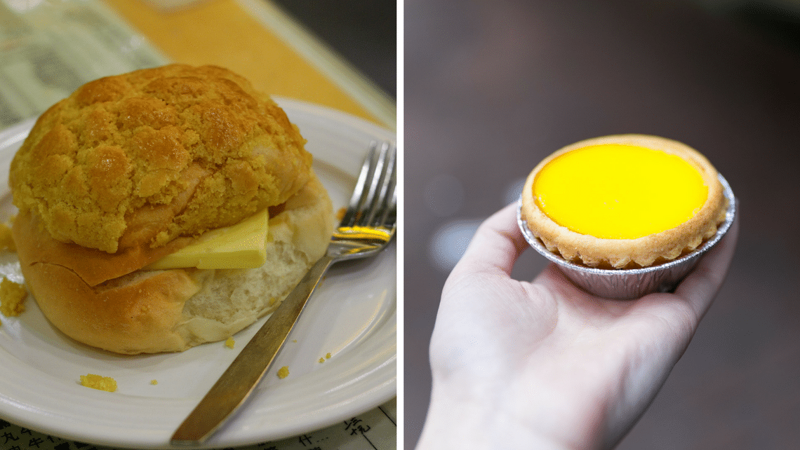 Meet yuanyang's best friends: pineapple bun and egg tart.