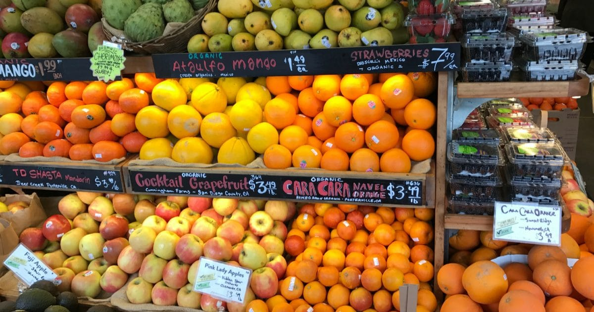 Bi-Rite Market is a fabulous neighborhood grocery store with incredible seasonal fruits. (Photo credit: Laura Disharoon)