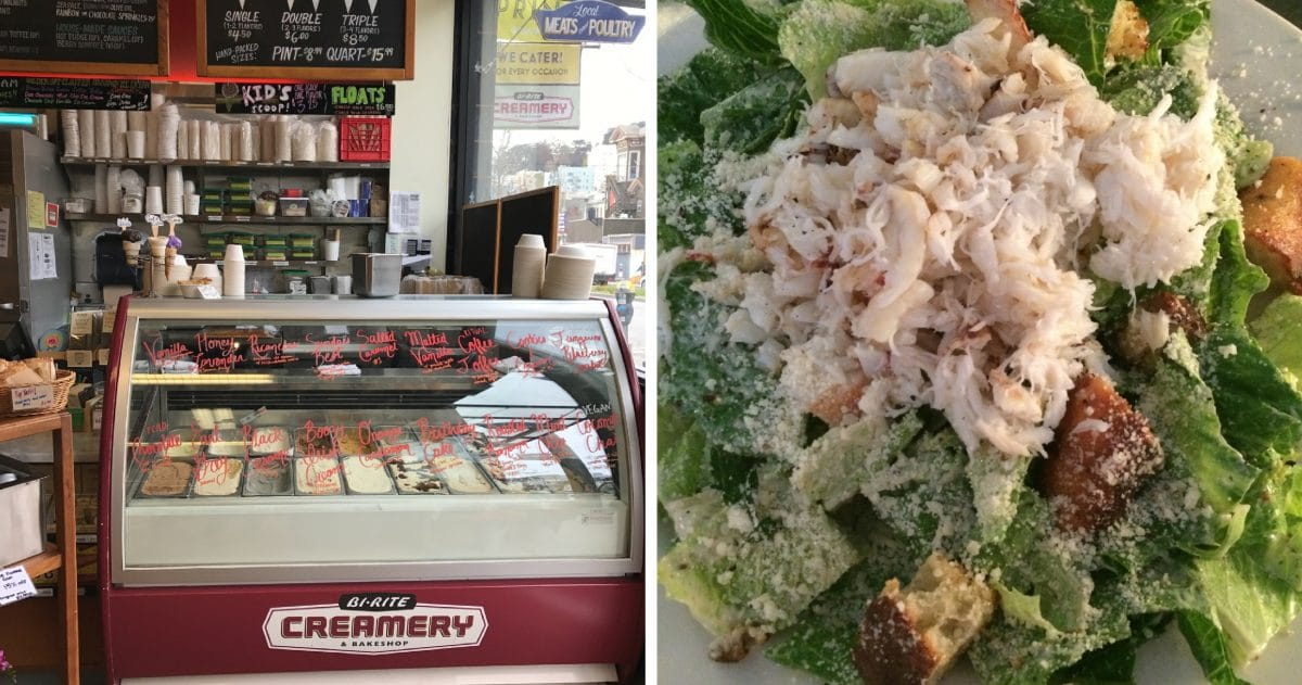 Ice cream at Bi-Rite or Crab caesar salad at Anchor Oyster Bar, the choice is yours. (Photo credit: Laura Disharoon)