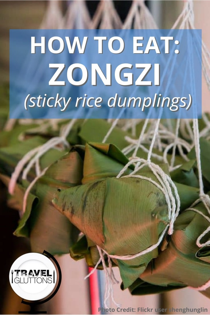 These sticky rice dumplings or zongzi are traditionally eaten around the Dragon Boat Festival. Eat them alone or served with soy sauce or crystal sugar.